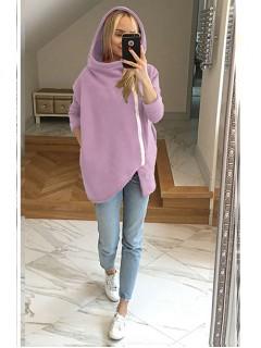 Bluza Asymetryczna Liliowa