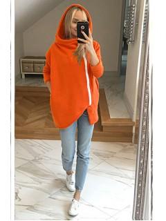 Bluza Asymetryczna Pomarańczowy Neon