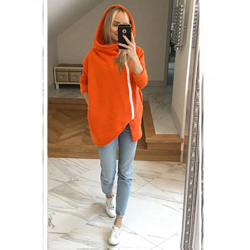 Bluza Asymetryczna Pomarańczowa