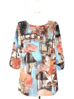 Bluzka Klasyczna Kwiaty Wzory W12