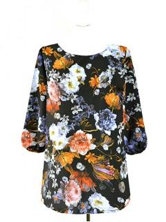 Bluzka Klasyczna Kwiaty Wzory W26
