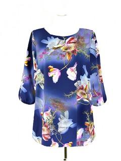 Bluzka Klasyczna Kwiaty Wzory W61