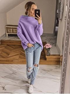 Bluza Dzwonek Pastelowa Liliowa