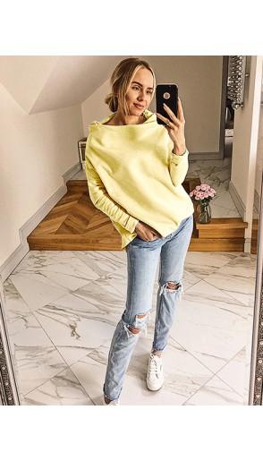 Bluza Dzwonek Pastelowa Żółta