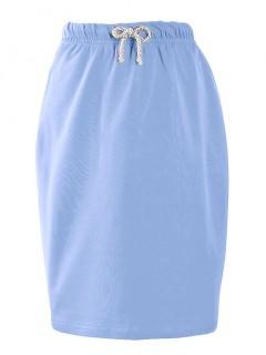 Ołówkowa Spódnica Błękitna