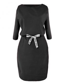 Sukienka Taśma Czarna
