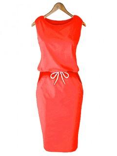 Sukienka Lizbona Pomarańczowy Neon