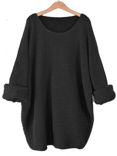 Sweter Nietoperz Czarny