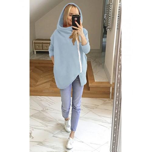 Bluza Asymetryczna Błękitna