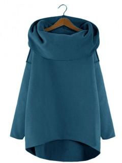 Bluza Asymetryczna Błękit Królewski