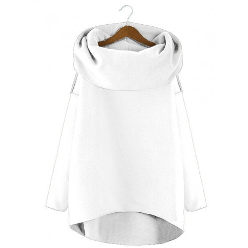 Bluza Asymetryczna Biała