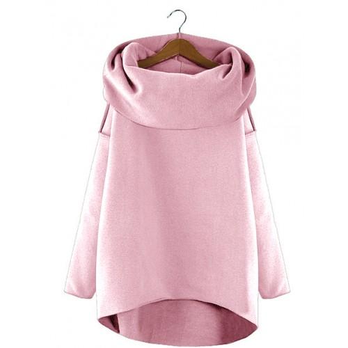 Bluza Asymetryczna Pudrowa
