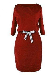 Sukienka Taśma Cegła