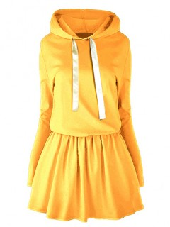 Sukienka Wstążka Musztarda