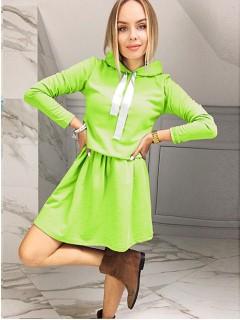 Sukienka Wstążka Limonka