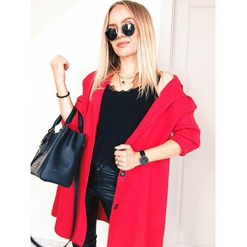 Kardigan Sweter Czerwony