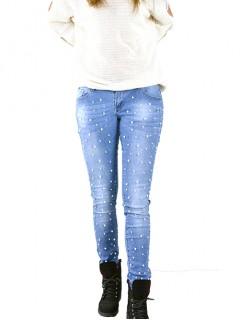 Spodnie Perełki Granatowe