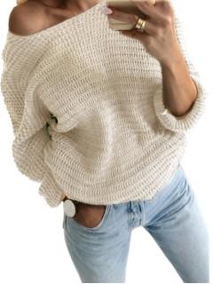 Sweter Nietoperz Piaskowy