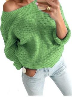 Sweter Nietoperz Groszkowy