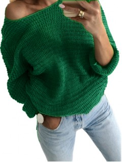 Sweter Nietoperz Zielony