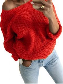 Sweter Nietoperz Strażacka Czerwień