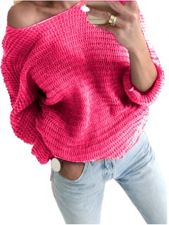 Sweter Nietoperz Intensywny Róż