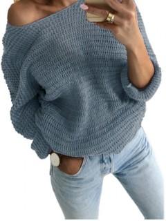 Sweter Nietoperz Stalowy
