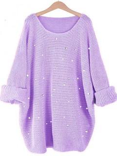 Sweter Perły Liliowy