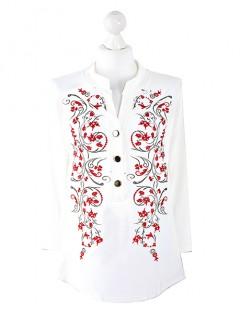 Bluzka Koszula Kwiaty Wzór 2