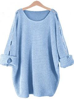 Sweter Łezki Błękitny