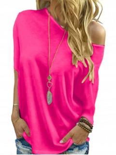 Bluzka Nietoperz Różowy Neon