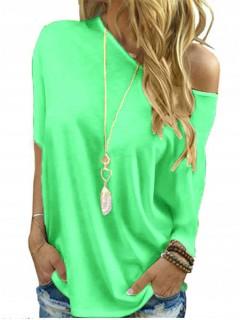 Bluzka Nietoperz Zielony Neon