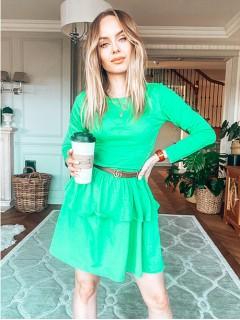Sukienka Falbany Zielona