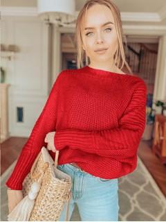 Sweter Ryżowy Czerwony