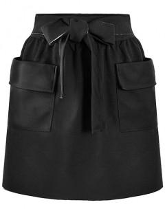 Spódnica Kieszenie Czarna