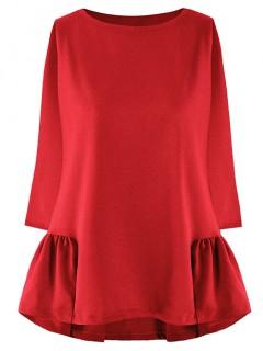Bluza Trapezowa Czerwona