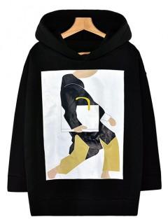 Bluza Czarna Print