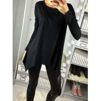 Bluzka Asymmetric Black