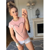 Bluzka Heart Baby Pink