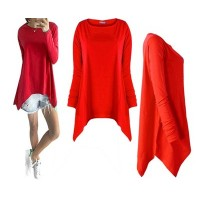 Bluzka Asymmetric Red
