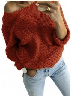 Sweter Nietoperz Miedziany
