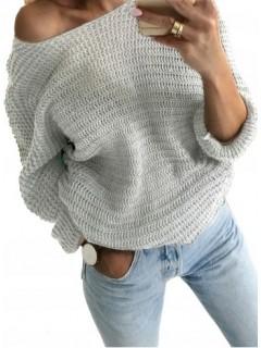 Sweter Nietoperz Szary