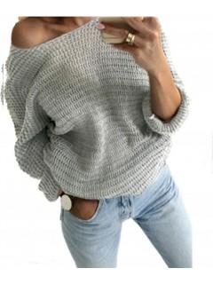 Sweter Nietoperz Ciemny Szary