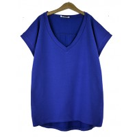 Bluzka V-neck BASIC Cobalt