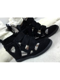 Sneakersy Zamsz Black