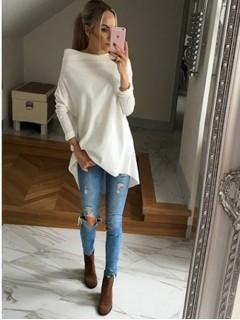 Bluza Over Creamy