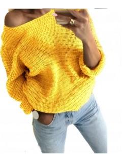 Sweter Nietoperz Słoneczny Żółty
