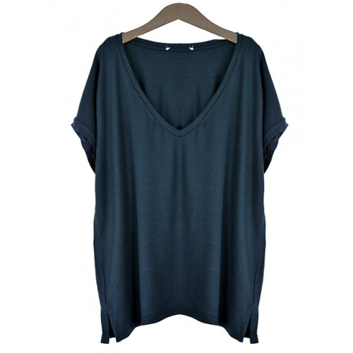 Bluzka Basic V-neck