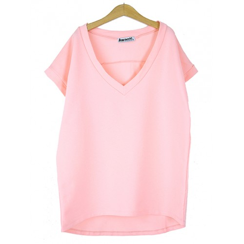 Bluzka V-neck BASIC Candy