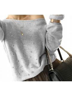 Sweter Perełki Szary